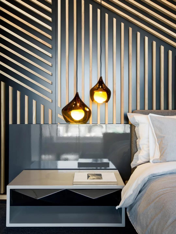 Loft风格公寓装修床头背景墙效果图