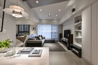 现代简约风格二居室客厅装修效果图