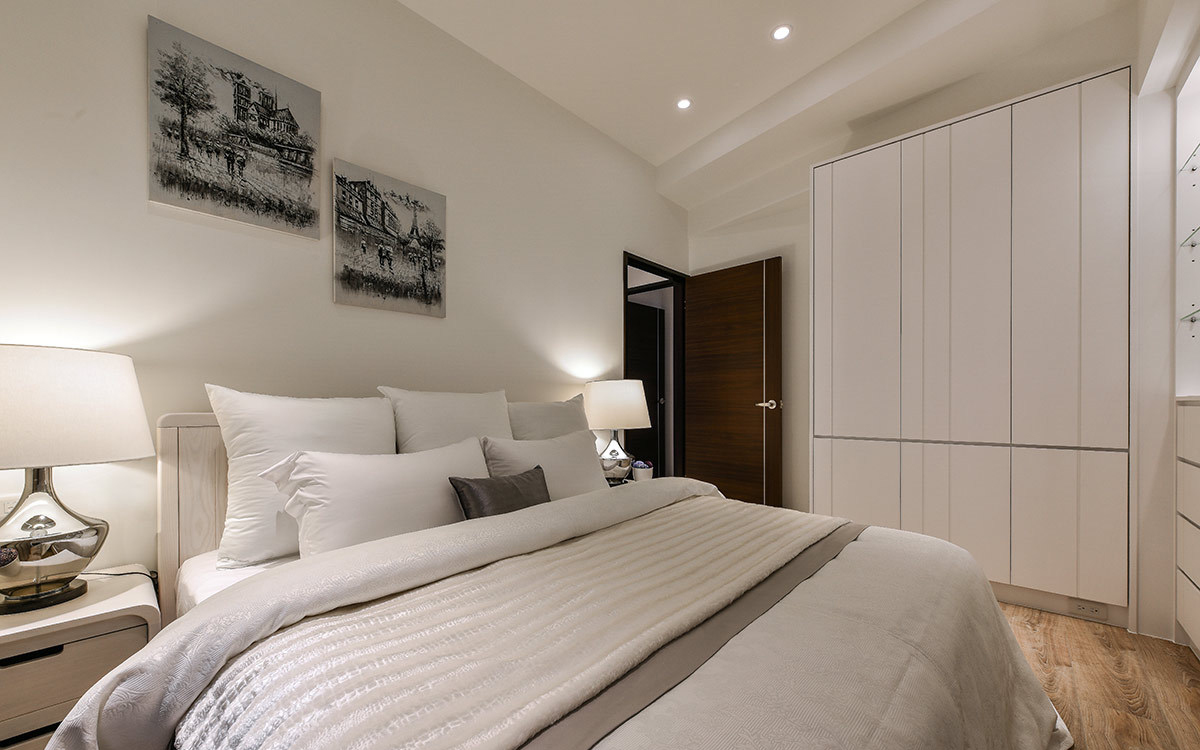 现代简约风格二居室装修卧室效果图