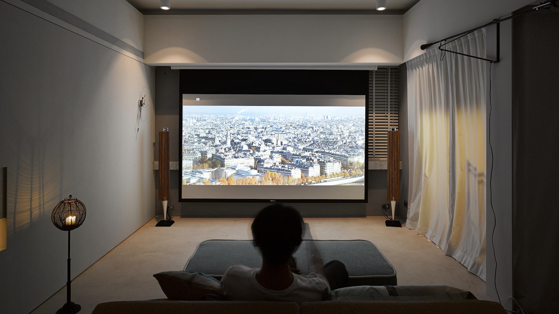 168平米现代风格装修影音墙效果图