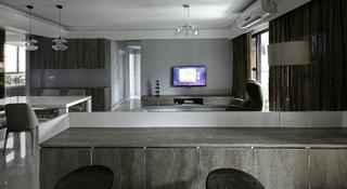 现代风三居之家吧台设计图