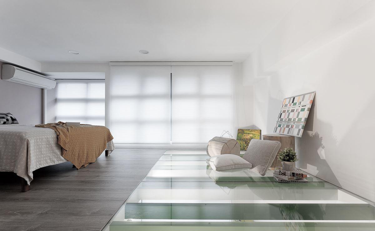 60平简约清新公寓卧室装修效果图