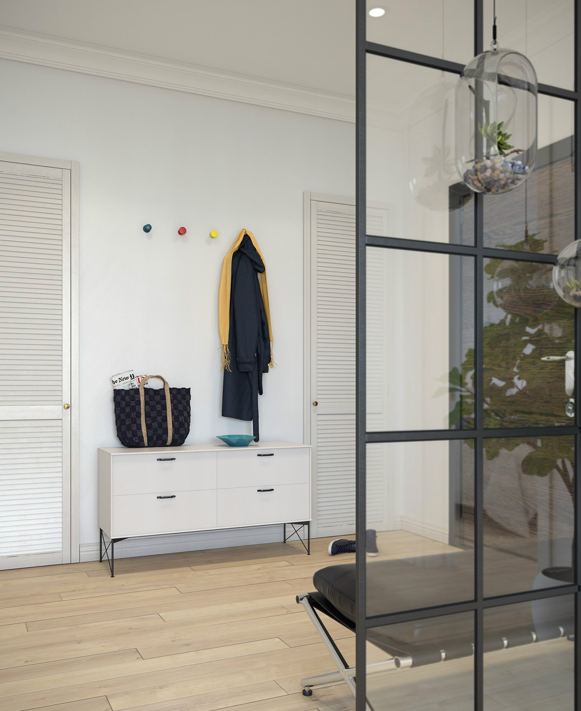 小户型一居室北欧风玄关装修效果图