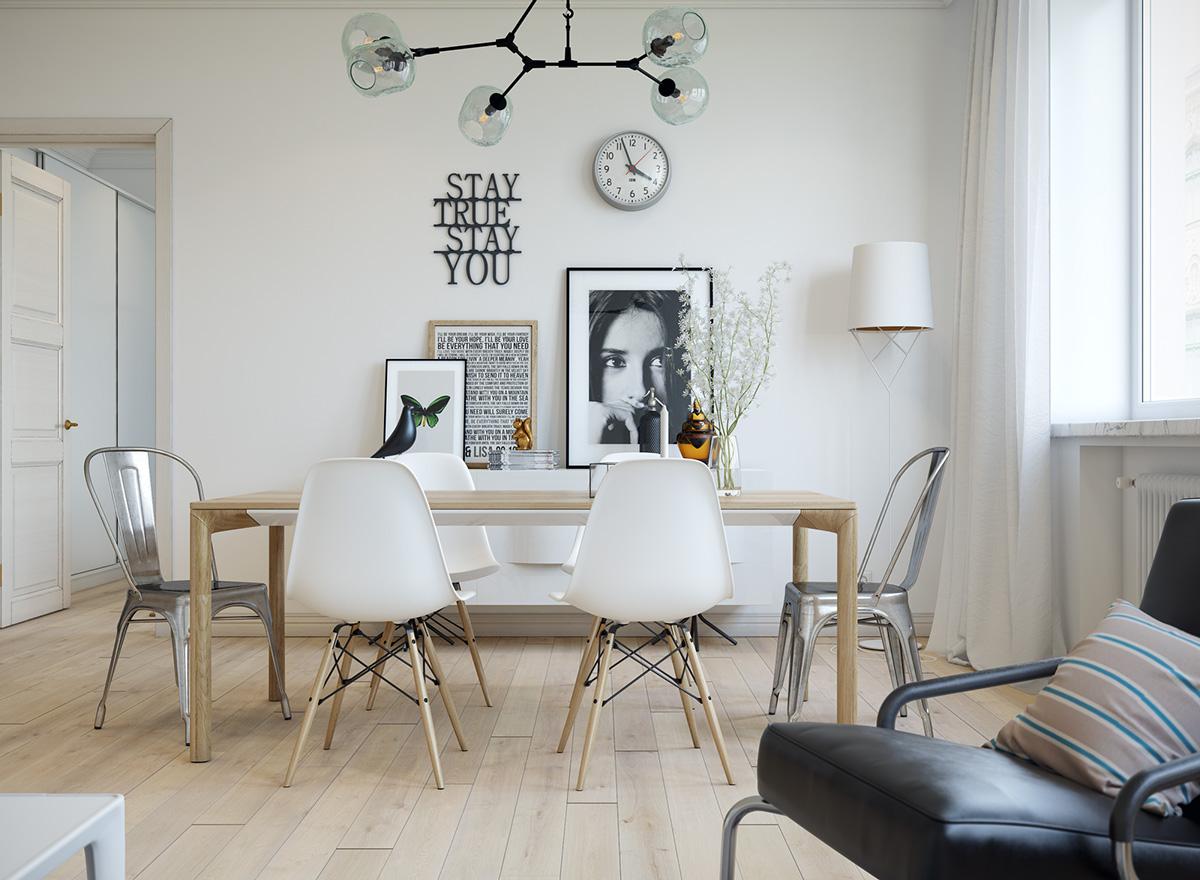 小户型一居室北欧风装修餐桌椅设计图