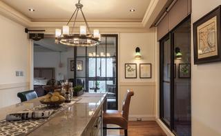 89㎡美式风格二居装修吊灯设计图