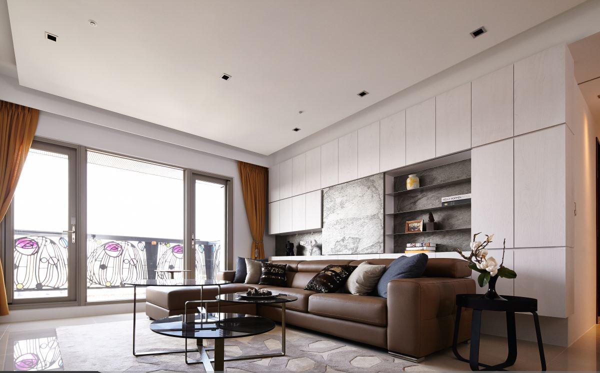 115平现代风三居沙发背景墙装修效果图