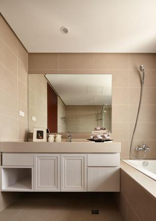 115平现代风三居装修浴室柜设计图