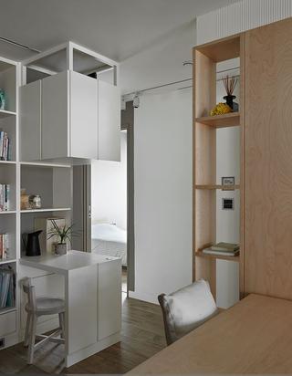 简约北欧风格三居装修吧台设计图