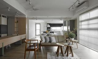简约北欧风格三居装修沙发边几设计图