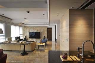 混搭风格三居室客厅装修效果图