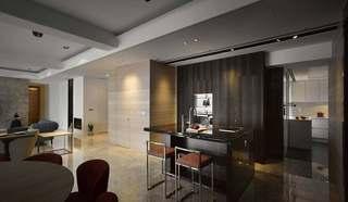 混搭风格三居室吧台装修效果图