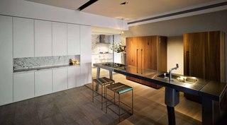 155㎡三居室设计吧台效果图