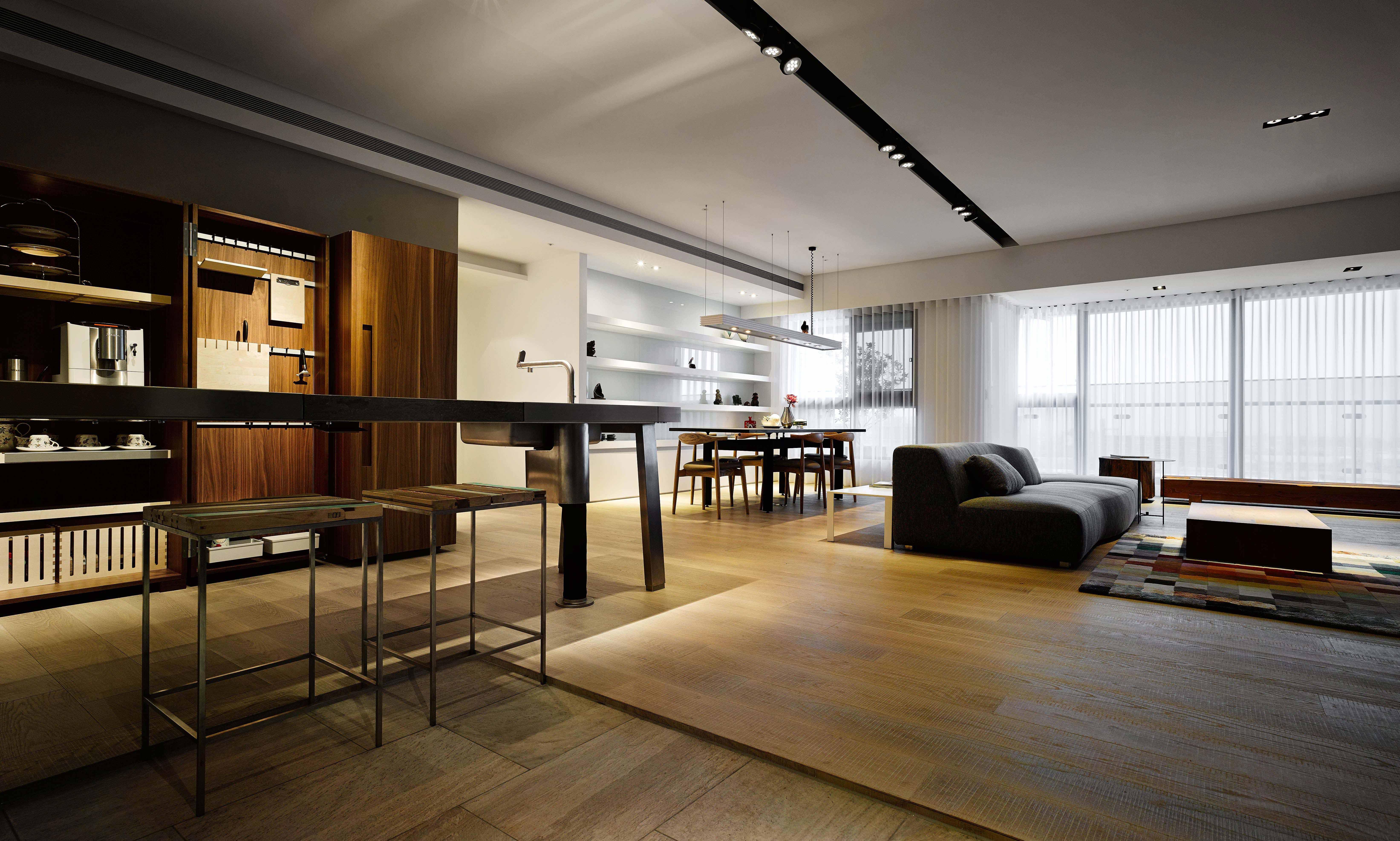 155㎡三居室设计地板效果图