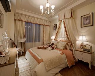 美式田园三居卧室装修设计图