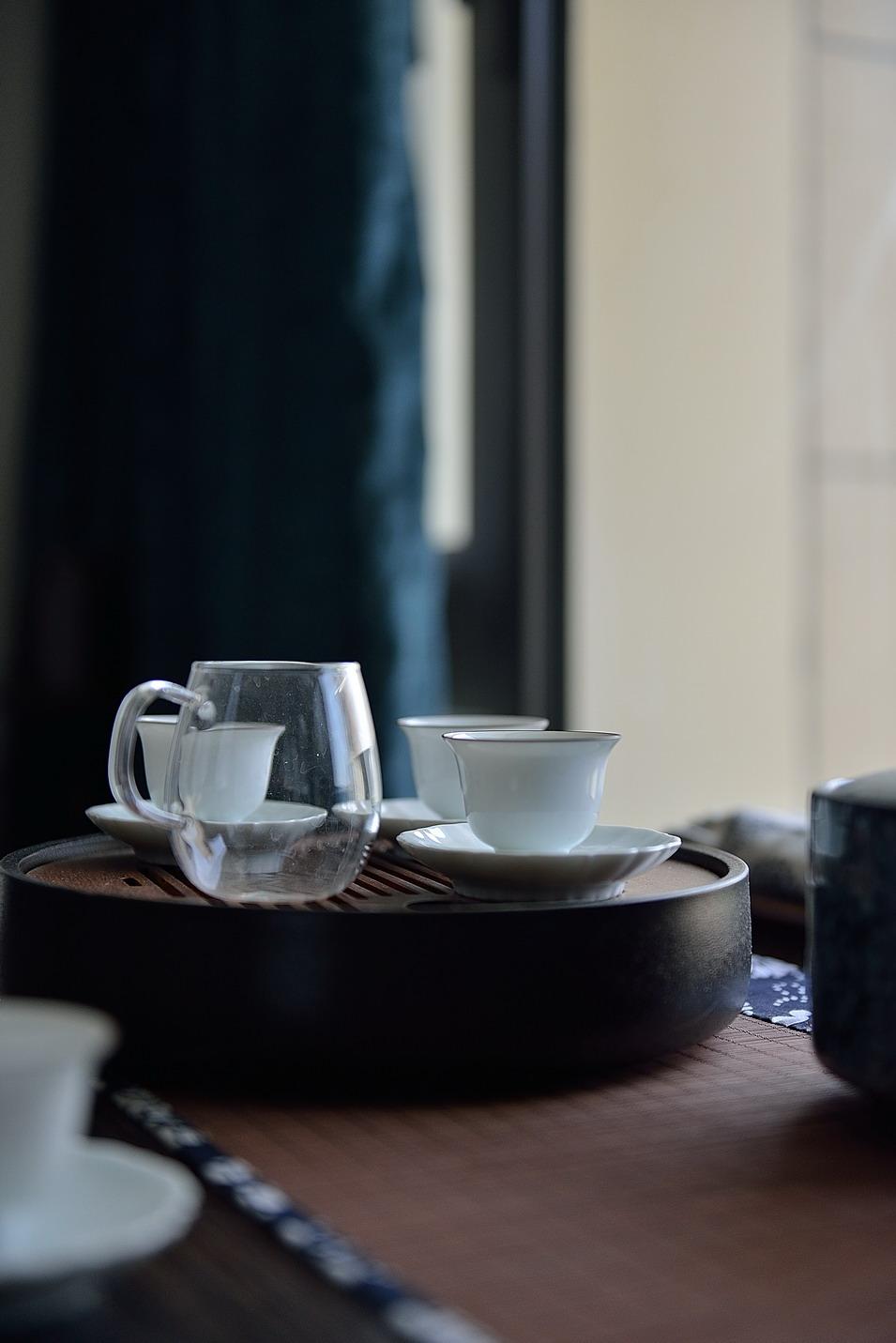 新中式风格三居室装修茶台小景