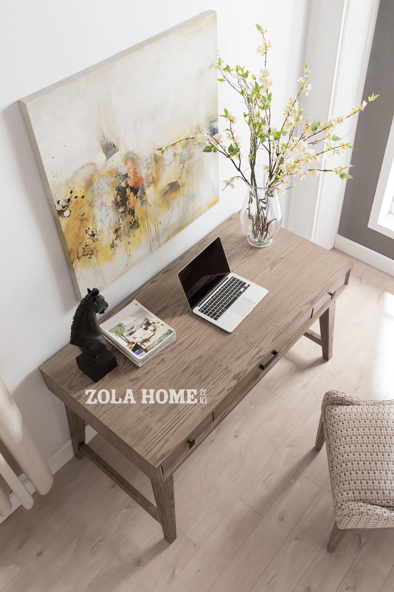 152㎡简约北欧三居装修书桌设计图
