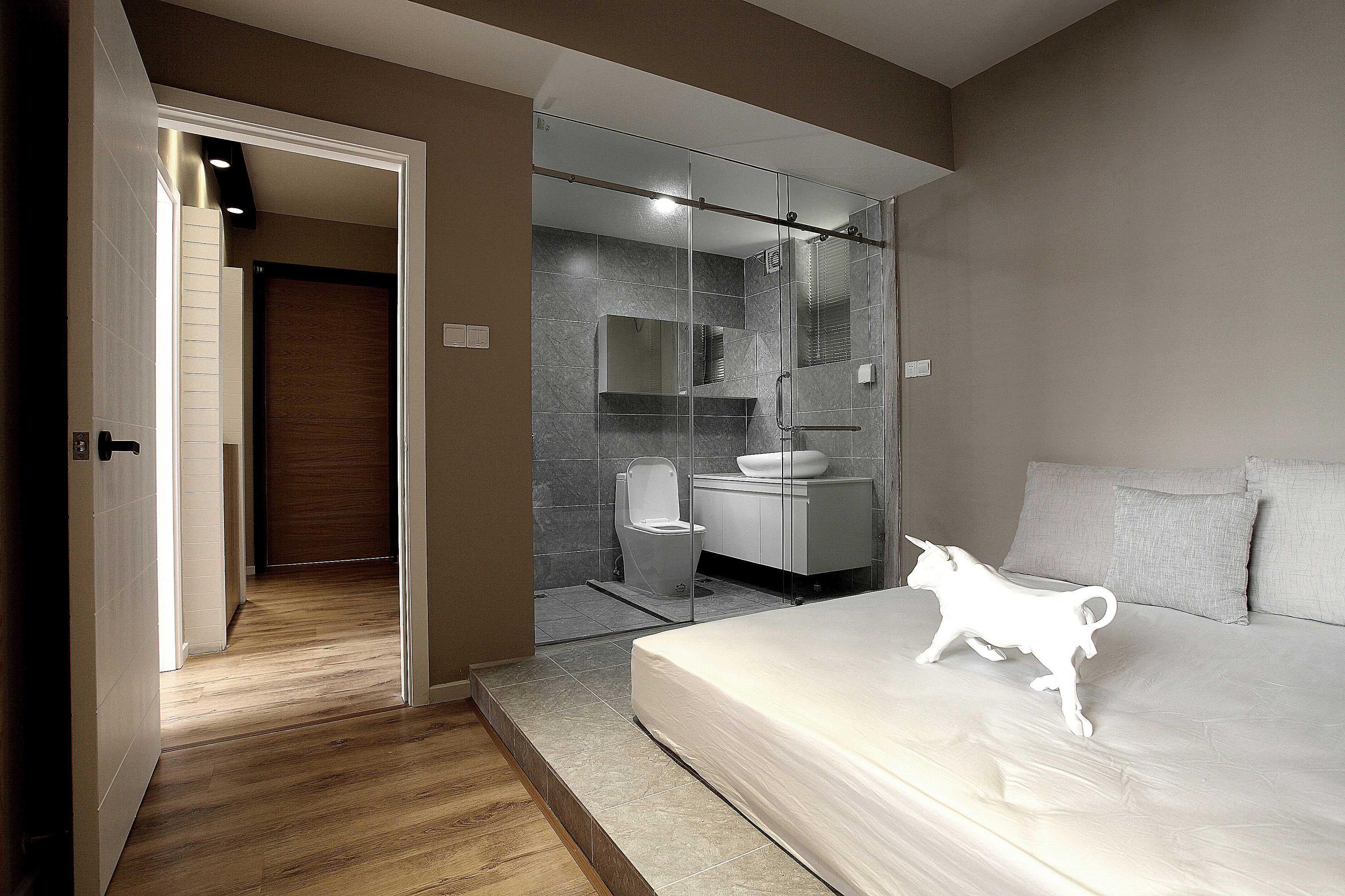 85平北欧风格两居装修卧室地台设计图