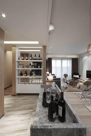 三居室现代风格装修吧台设计效果图