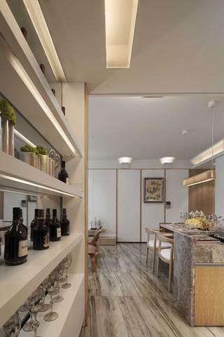 三居室现代风格装修酒柜设计效果图