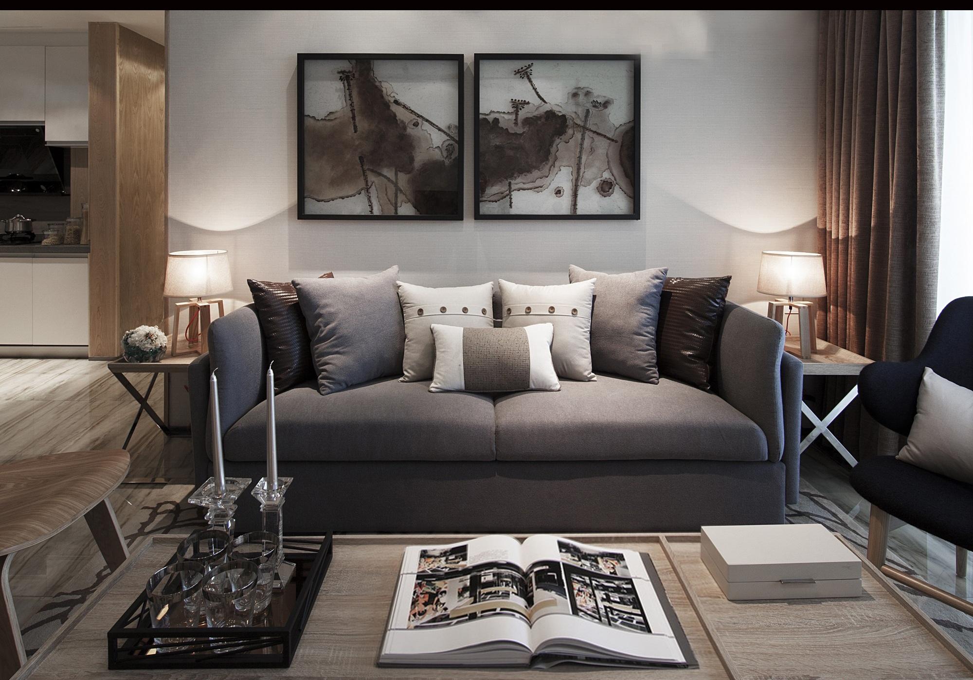三居室现代风格装修沙发设计效果图