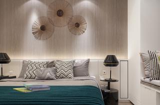 92平后现代风格三居卧室背景墙装修效果图