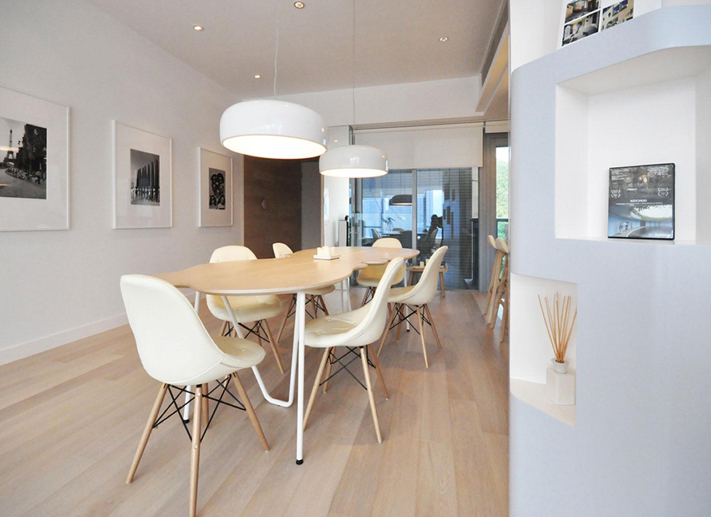 北欧简约风格一居室餐厅装修效果图