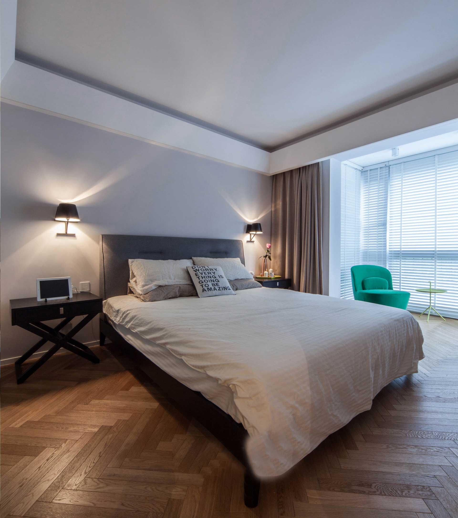 135平北欧风格三居卧室装修效果图