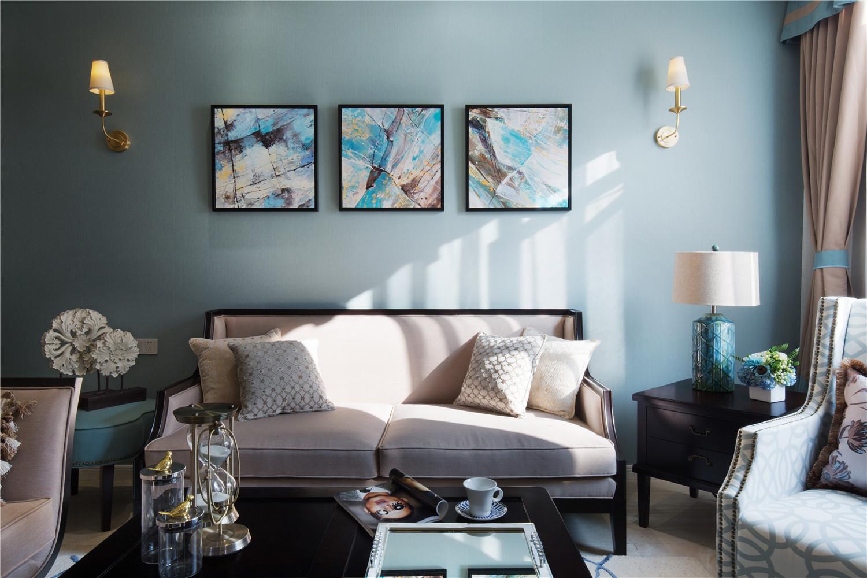 350平米美式别墅沙发背景墙装修效果图