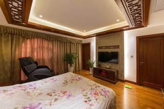 400平中式风格别墅装修卧室吊顶效果图