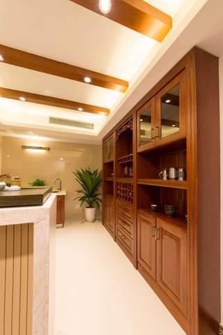 400平中式风格别墅装修橱柜效果图