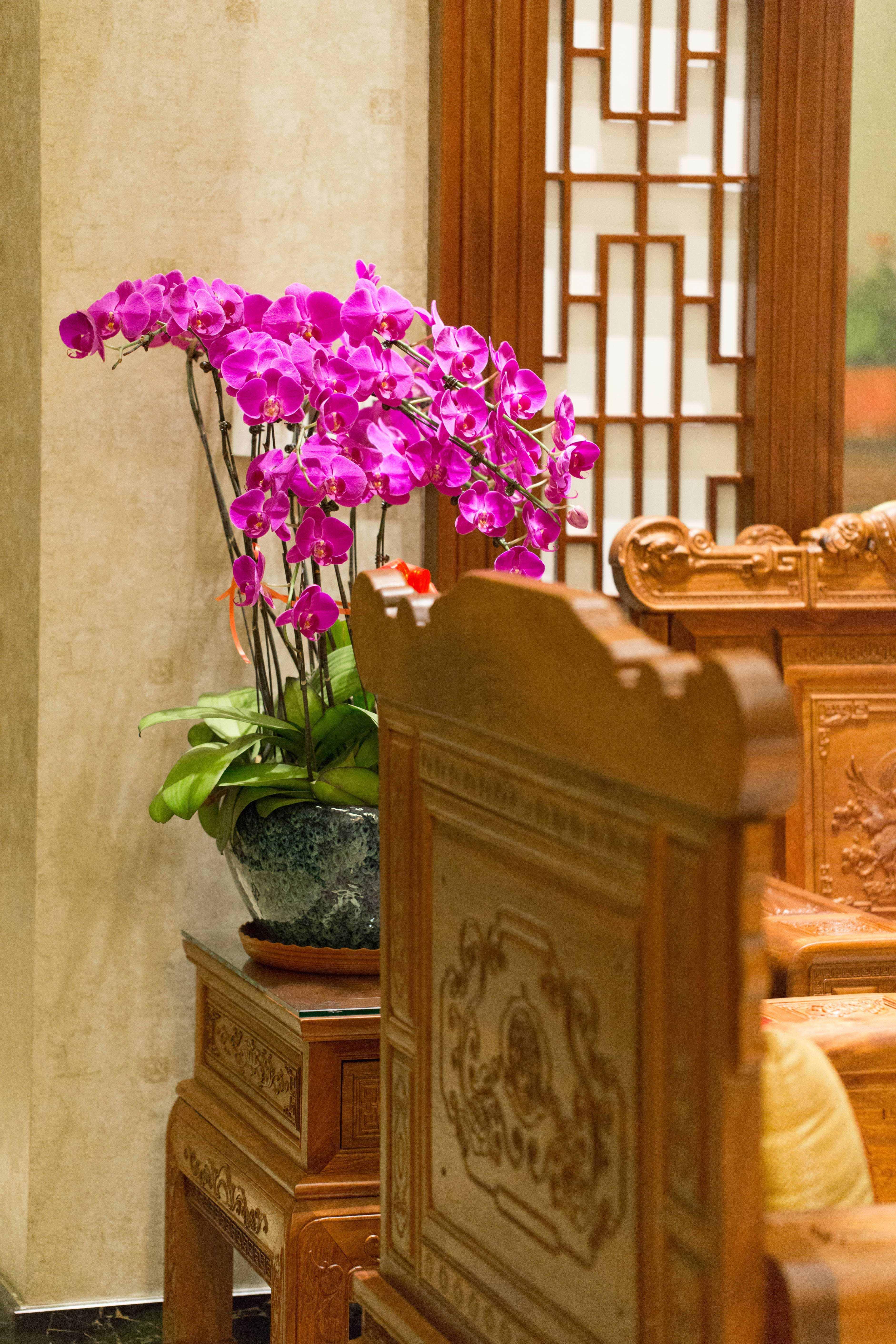 400平中式风格别墅装修客厅小景