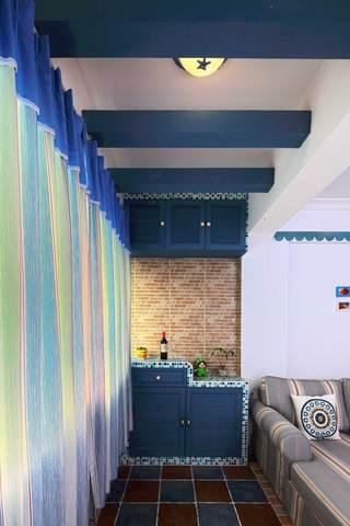 地中海风格二居室阳台装修效果图