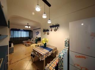 地中海风格二居室装修餐厅吊灯设计图