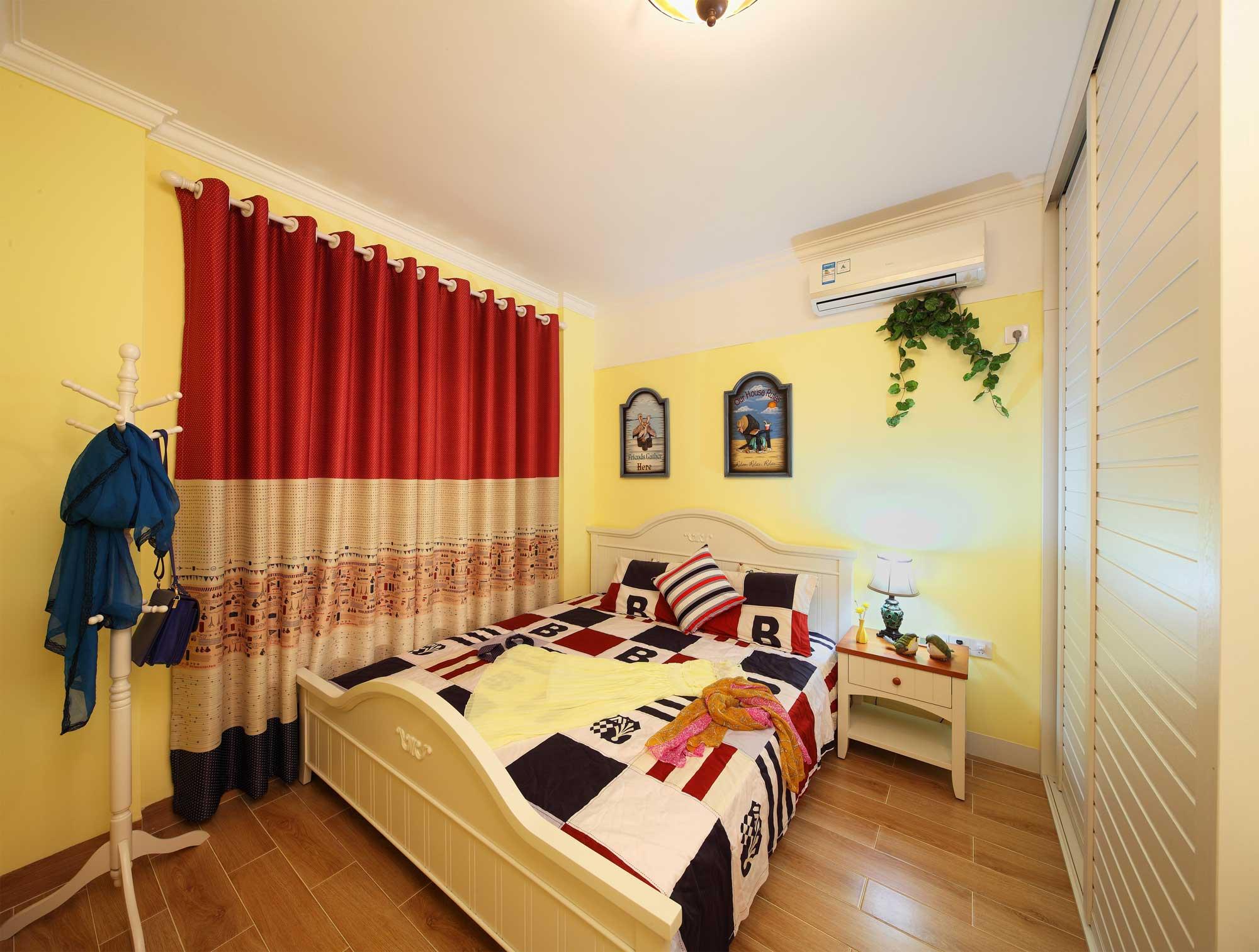 地中海田园混搭三居卧室装修效果图