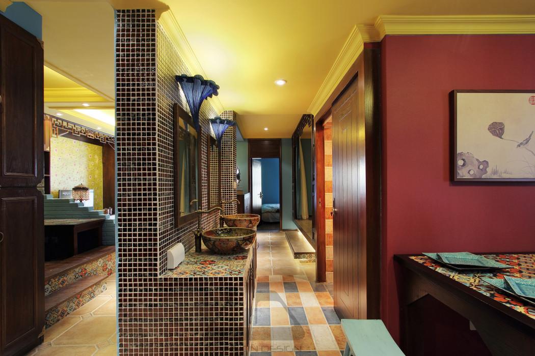 东南亚风格二居室装修过道效果图