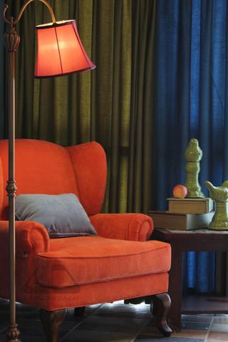 东南亚风格二居室装修客厅休闲一角