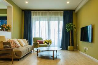100平北欧风三居客厅装修效果图
