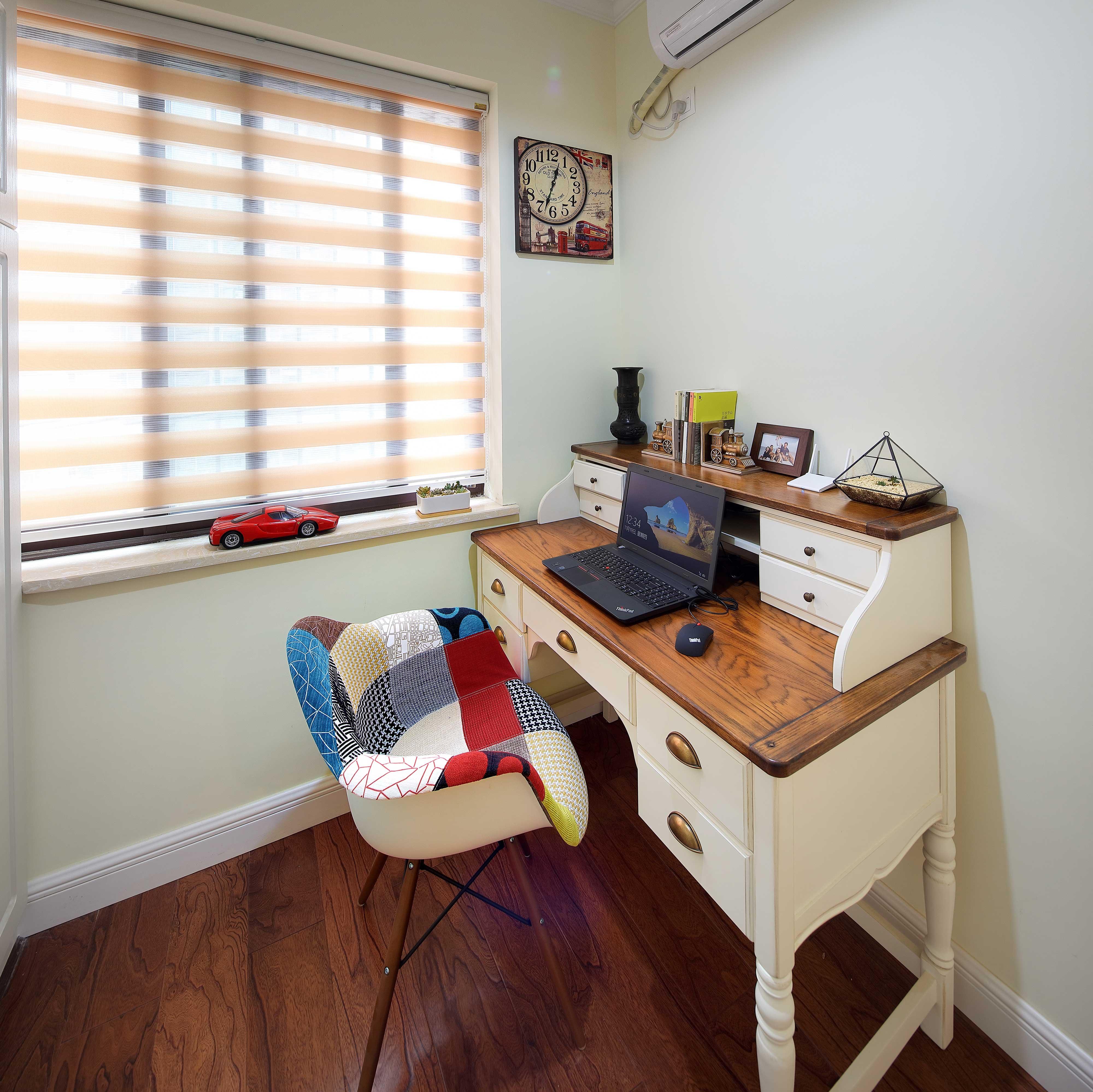 130平美式乡村风格装修书桌设计图