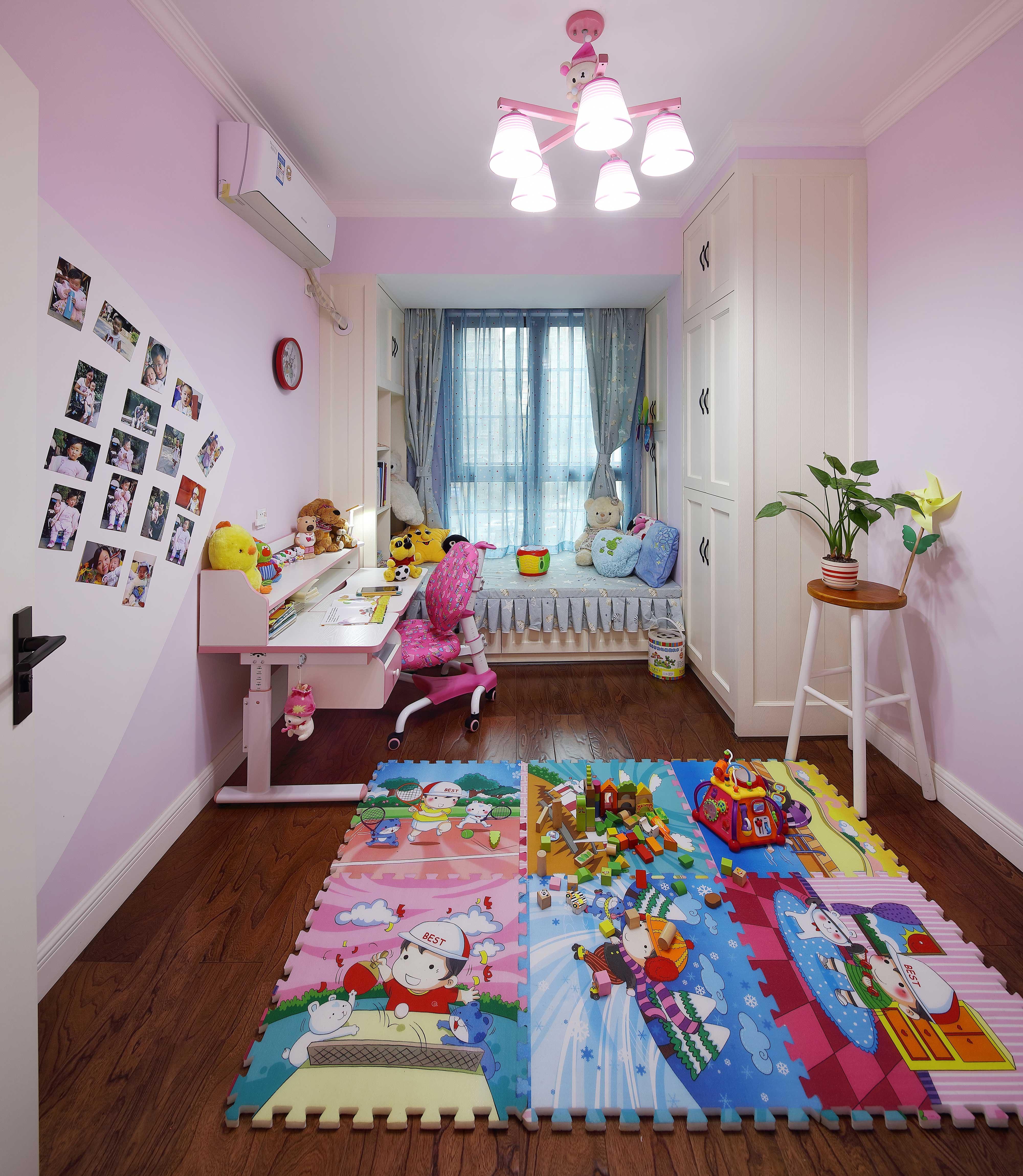 130平美式乡村风格儿童房装修效果图