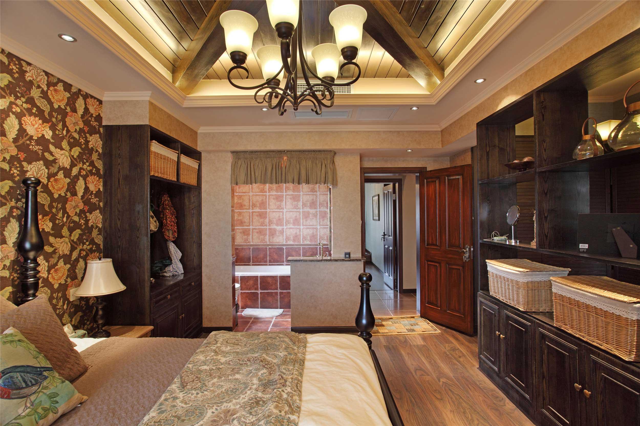 150平法式乡村风格卧室吊顶装修效果图