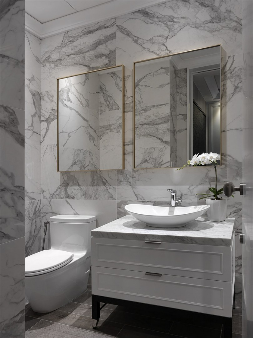 170平现代风格三居装修洗手台效果图