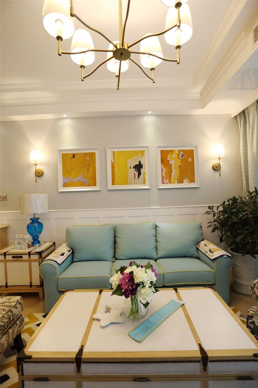美式混搭风二居装修沙发效果图