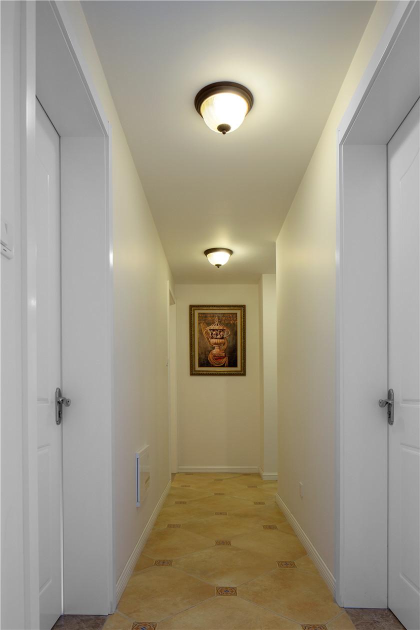 110平美式田园风格走廊装修效果图
