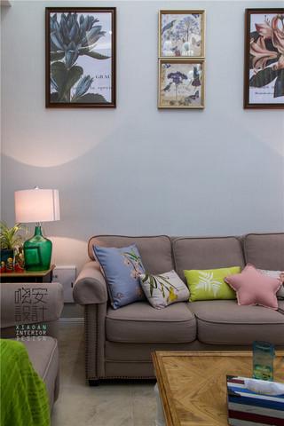 现代美式风格复式装修沙发设计图