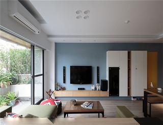 150平米现代简约风电视背景墙装修效果图