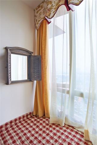 现代简美风格三居装修窗帘效果图