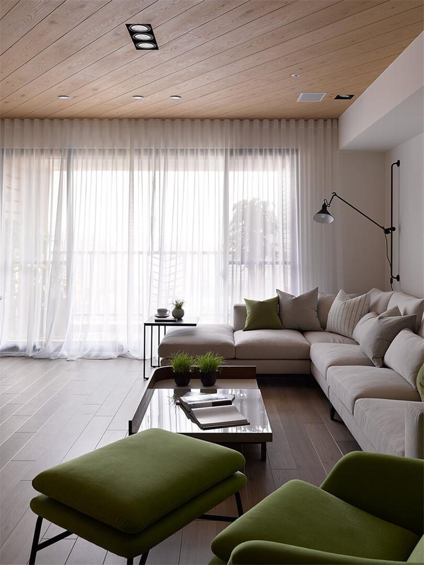 大户型现代北欧风装修窗帘设计图