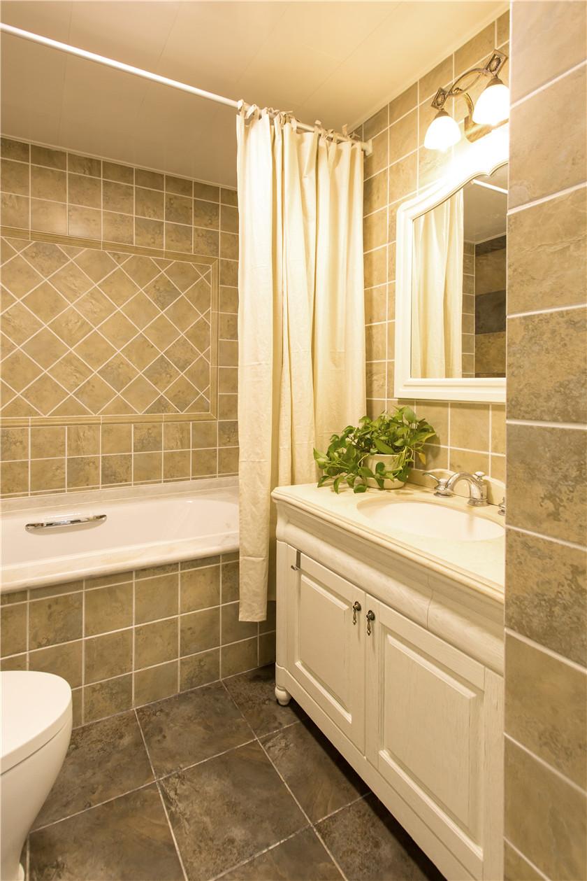 360平美式风格别墅装修浴室柜设计图