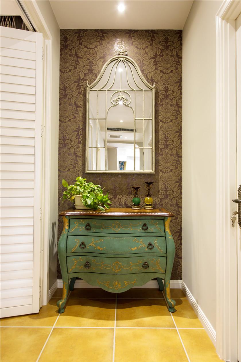 360平美式风格别墅装修玄关柜设计图