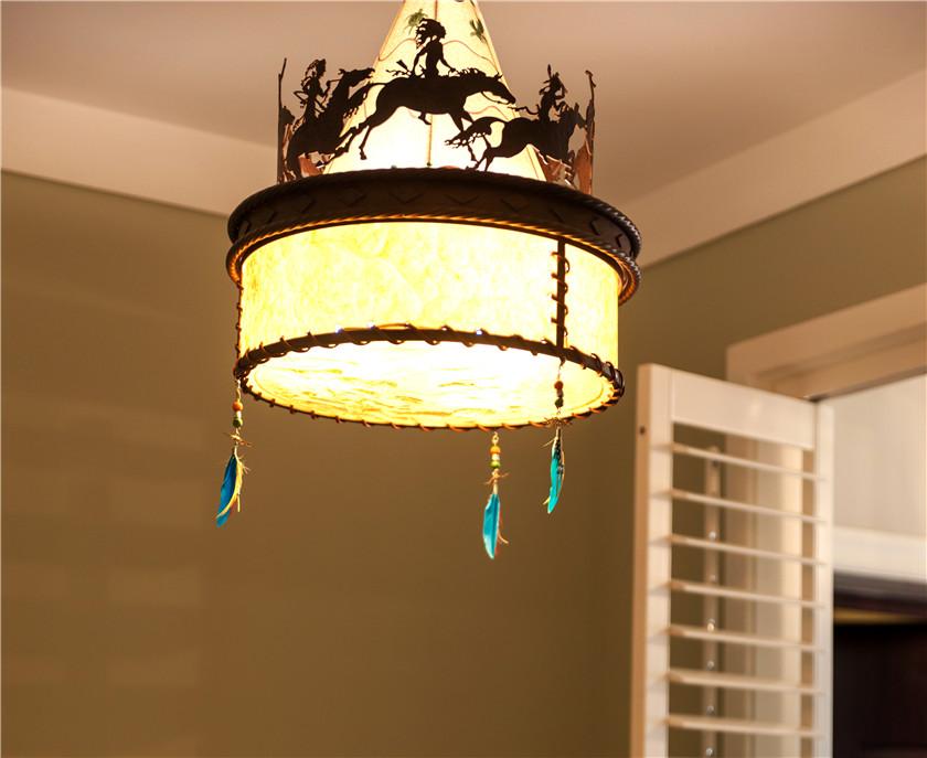 360平美式风格别墅装修吊灯设计